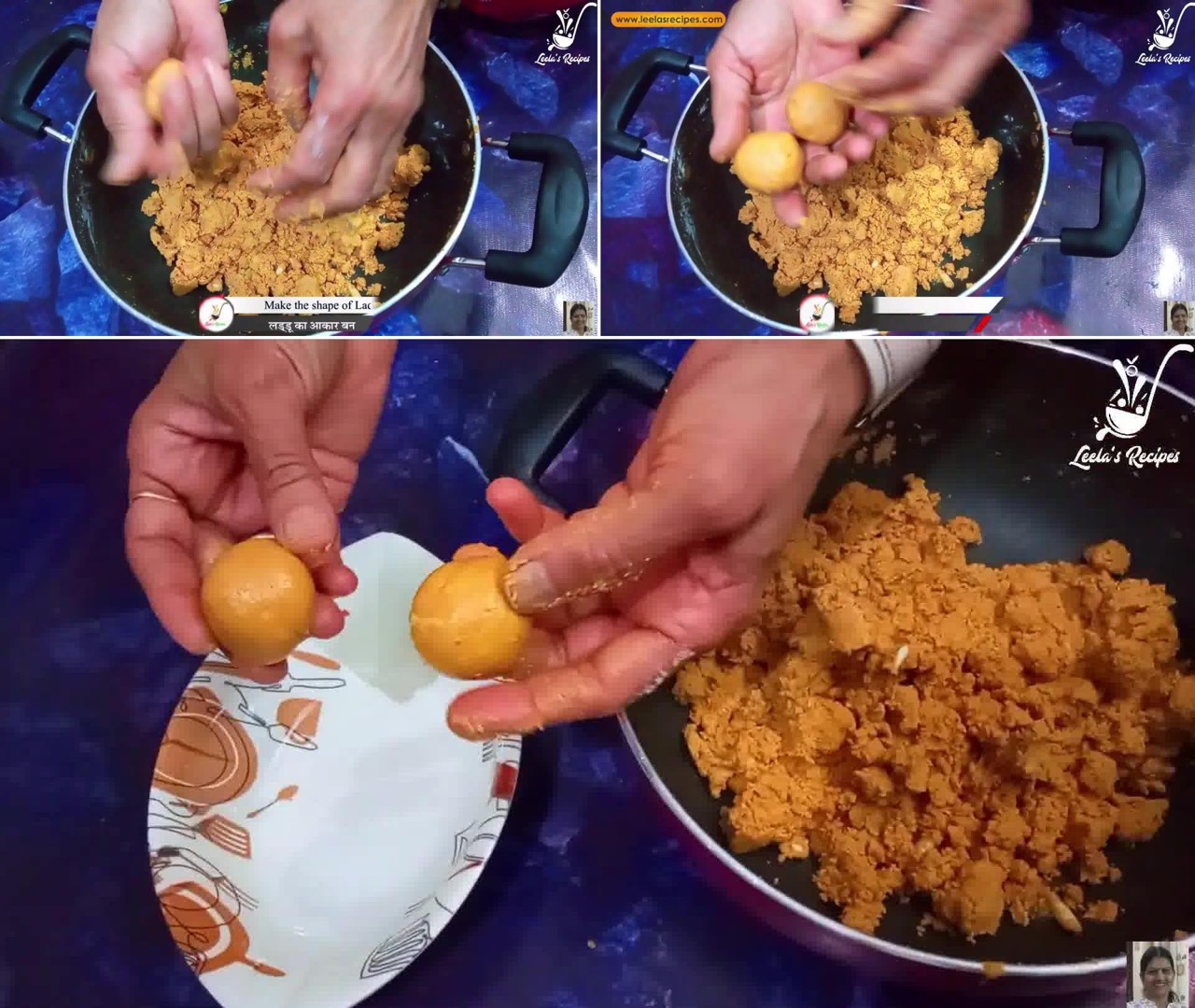 Image of the cooking step-1-7 for Besan Ke Ladoo