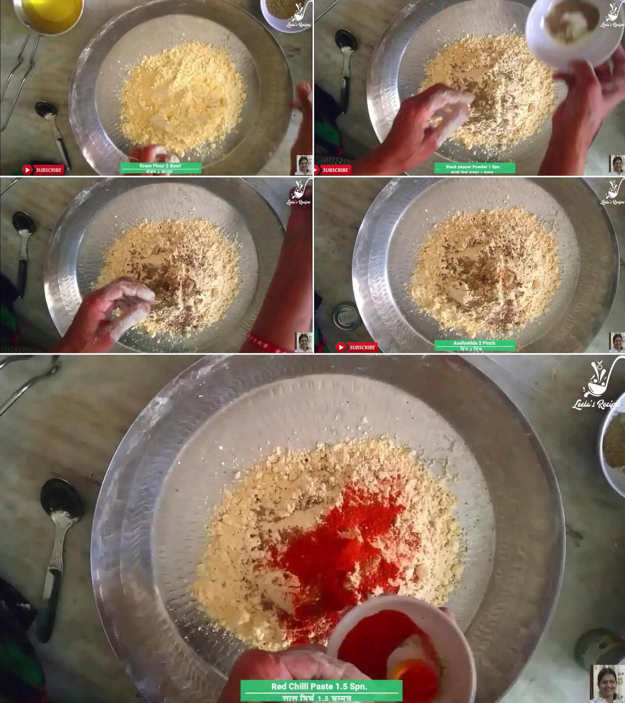 Image of the cooking step-1-1 for Besan Ki Sev Namkeen