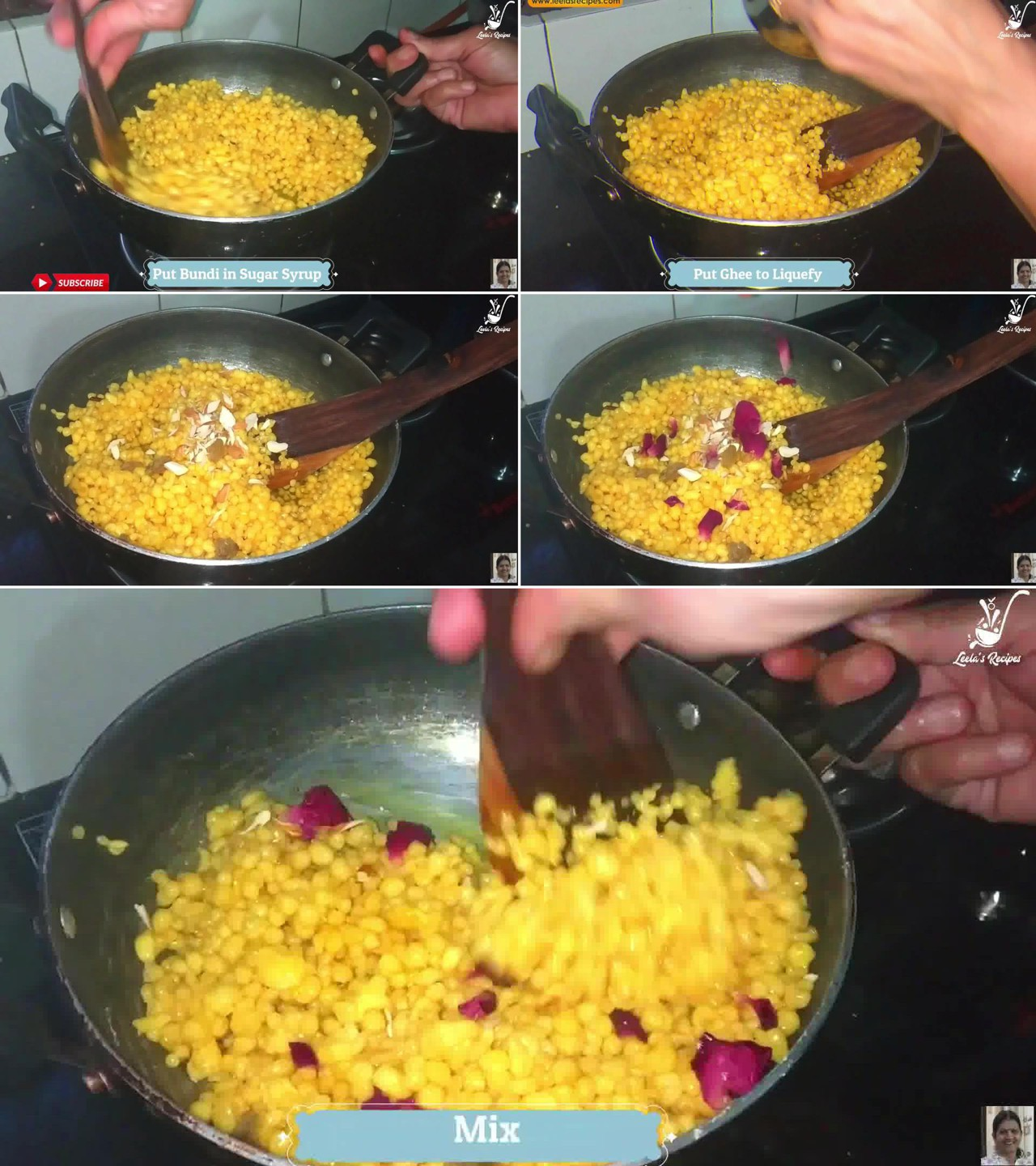Image of the cooking step-1-10 for Boondi Ladoo