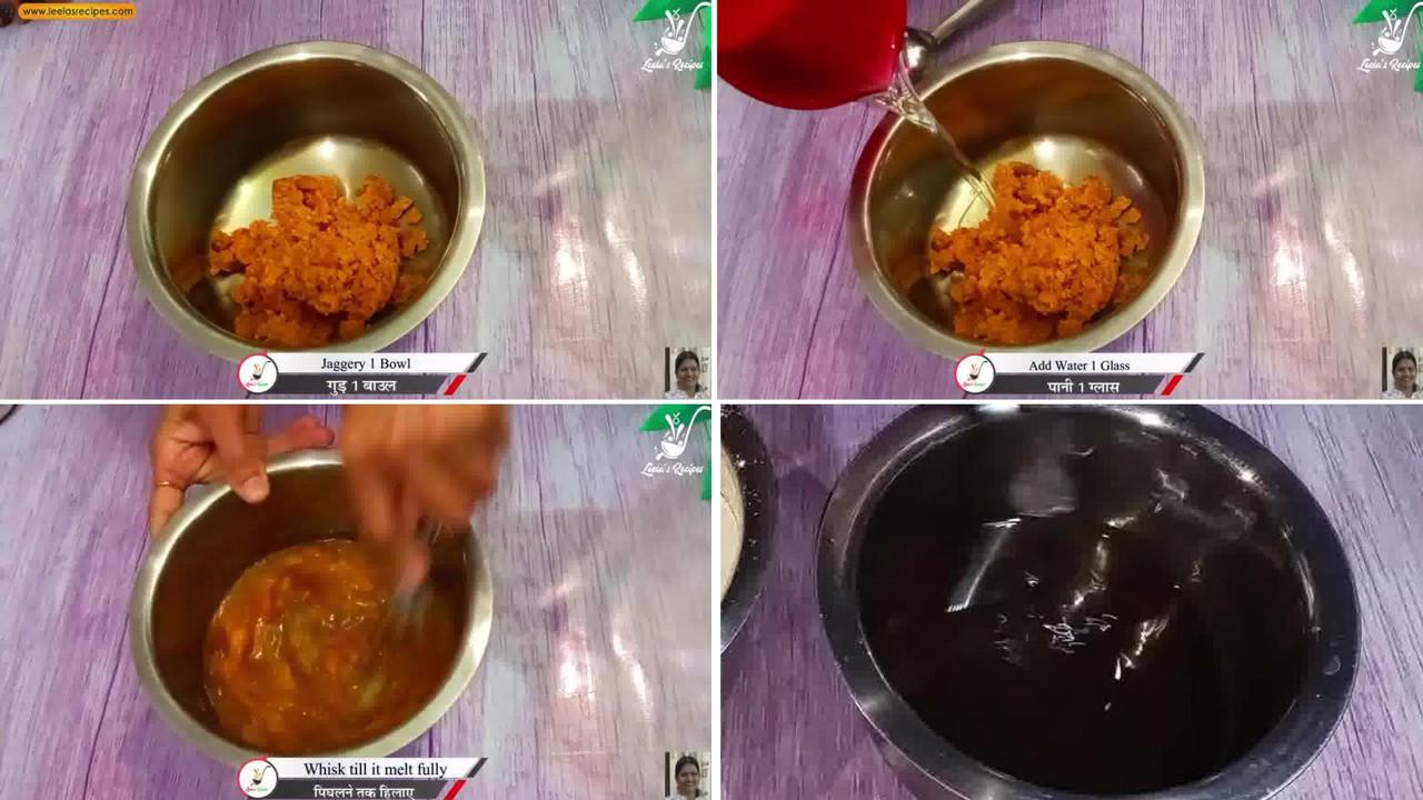 Image of the cooking step-1-1 for Sweet Cheela (Aate ka Meetha Cheela)