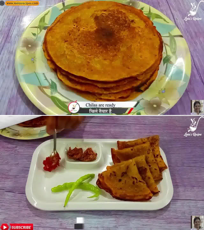 Image of the cooking step-1-10 for Sweet Cheela (Aate ka Meetha Cheela)