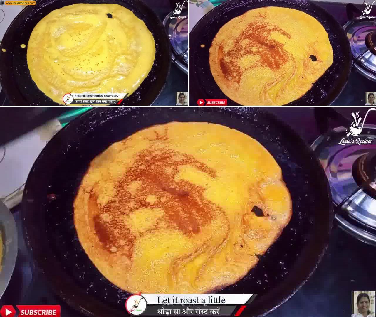 Image of the cooking step-1-8 for Sweet Cheela (Aate ka Meetha Cheela)