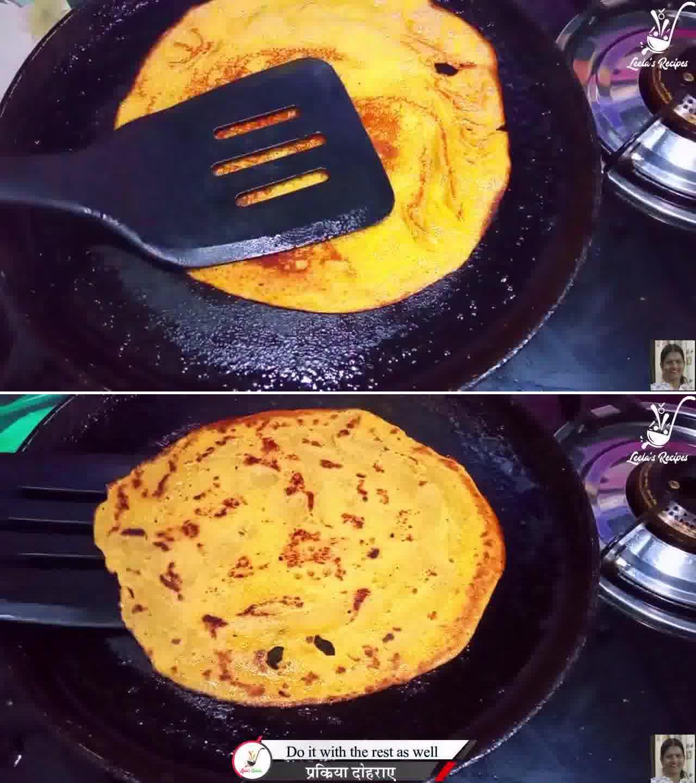 Image of the cooking step-1-9 for Sweet Cheela (Aate ka Meetha Cheela)