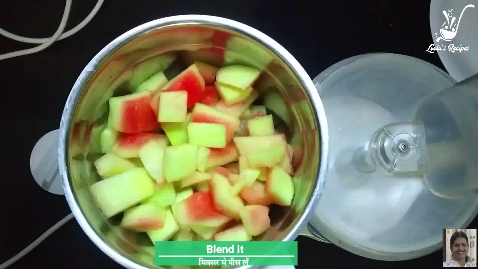 Image of the cooking step-1-2 for Tarbooz Ke Chhilke Ka Halwa - Watermelon Rind Pudding